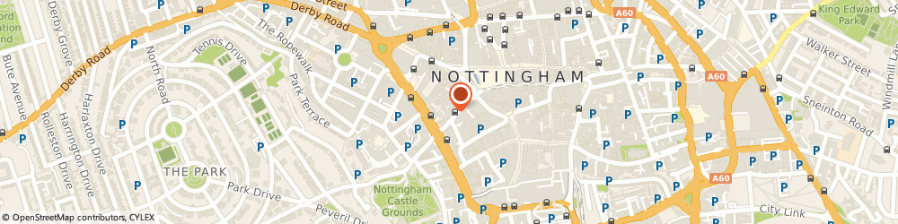 Route/map/directions to Kali Education, NG1 6DQ Nottingham, Suite 782, Vernon House, 109, Friar Lane