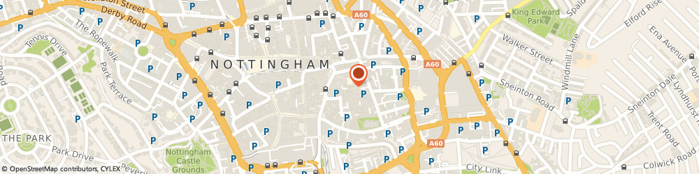 Route/map/directions to Bouzouki, NG1 1PH Nottingham, 55 ST MARYS PLACE