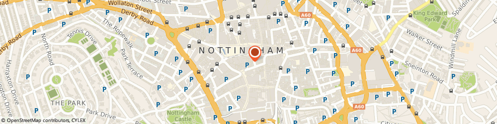 Route/map/directions to Whitewall Galleries Nottingham, NG1 2HN Nottingham, 1 Flying Horse Walk