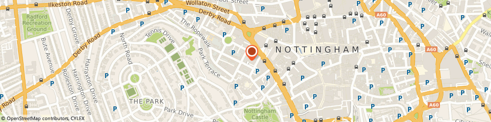 Route/map/directions to Business Car Rentals Limited, NG1 6EE Nottingham, 3RD FLOOR BUTT DYKE HOUSE, 33 PARK ROW
