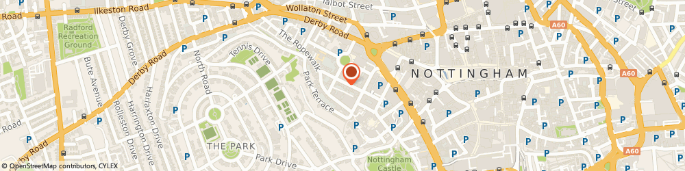 Route/map/directions to EVS Translations, NG1 5BS Nottingham, 19 Regent Street