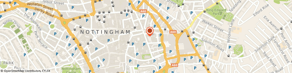 Route/map/directions to Flame Health Associates LLP, NG1 1LP Nottingham, 19 Stoney Street
