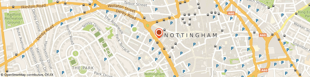 Route/map/directions to Thomson Reuters, NG1 6HQ Nottingham, Mount St