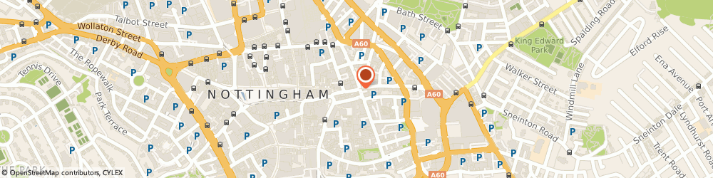 Route/map/directions to Boilermaker, NG1 1NN Nottingham, 36 Carlton St