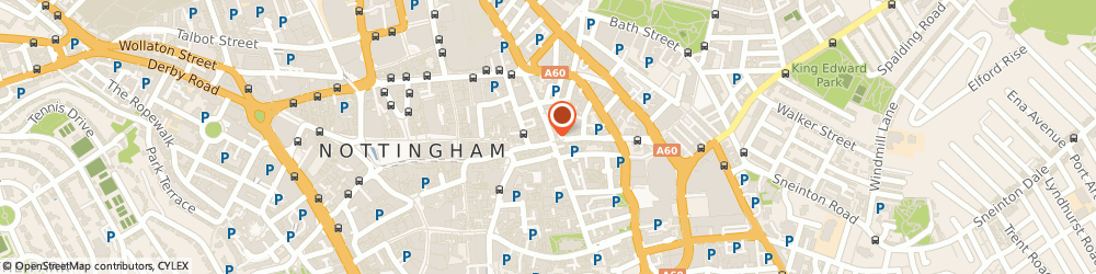 Route/map/directions to The i Bar, NG1 1NL Nottingham, 21 Carlton Street