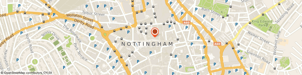 Route/map/directions to The Works, NG1 2DH Nottingham, 14 Long Row