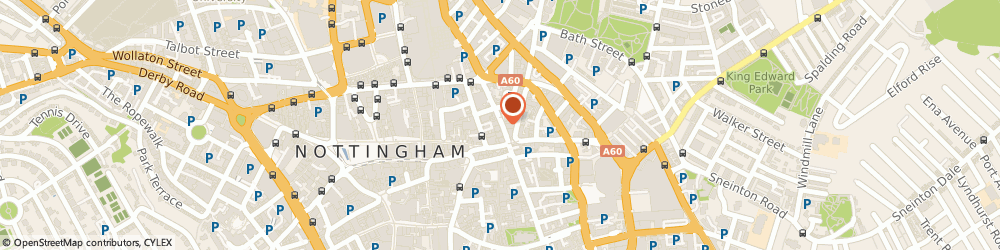 Route/map/directions to Salsaché, NG1 3AJ Nottingham, 9 Broad St