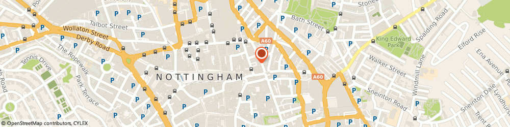 Route/map/directions to Curious Tavern, NG1 3BE Nottingham, 2A George Street
