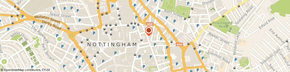 Route/map/directions to Synergy Bar & Lounge, NG1 3AJ Nottingham, 9 BROAD STREET