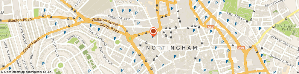 Route/map/directions to CASA AGAVE LTD, NG1 6JD Nottingham, 15-16 Hurts Yard