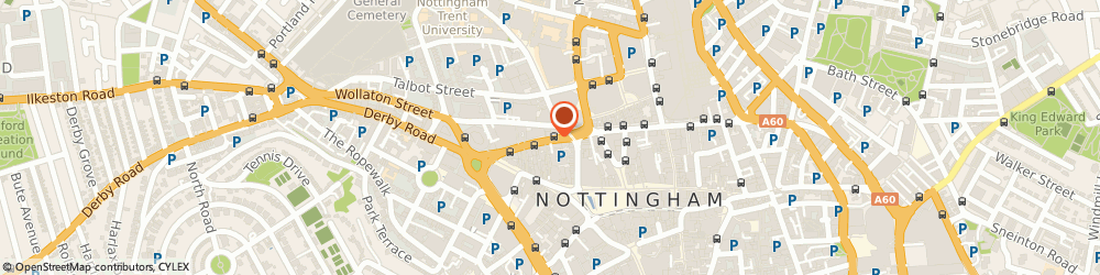 Route/map/directions to Private Shop, NG1 6LD Nottingham, 81 UPPER PARLIAMENT STREET