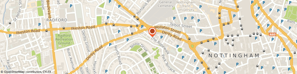 Route/map/directions to M D Pook, NG1 5DT Nottingham, 18-20 The Ropewalk