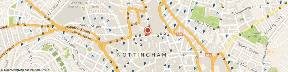 Route/map/directions to Greggs, NG1 2AP Nottingham, 25 Upper Parliament Street