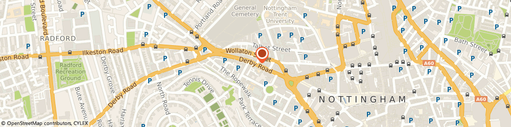 Route/map/directions to Futon Company NOTTINGHAM, NG1 5AD Nottingham, 47 Derby Road