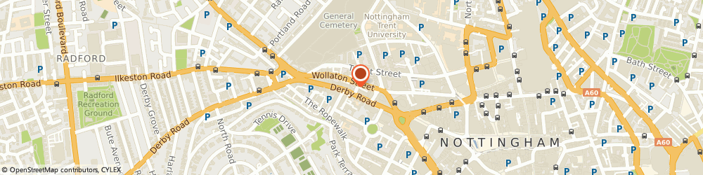Route/map/directions to Danish-homestore.com, NG1 5FD Nottingham, 88-94 Derby Rd