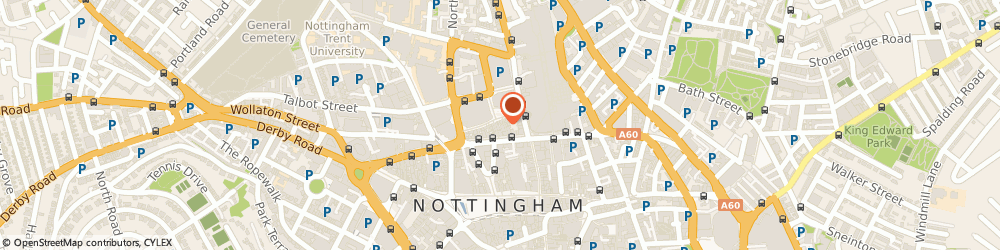 Route/map/directions to evoke h limited, NG1 2AE Nottingham, 9 King's Walk