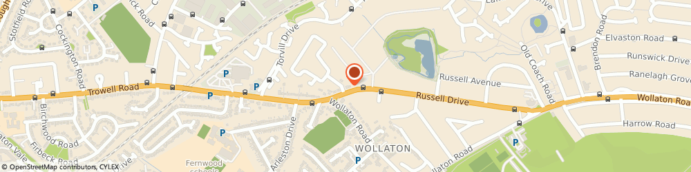 Route/map/directions to Rekoh Limited, NG8 2BE Nottingham, 156 Russell Drive