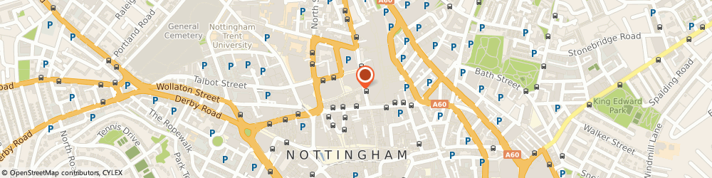 Route/map/directions to Caffè Nero, NG1 4AL Nottingham, Trinity Square