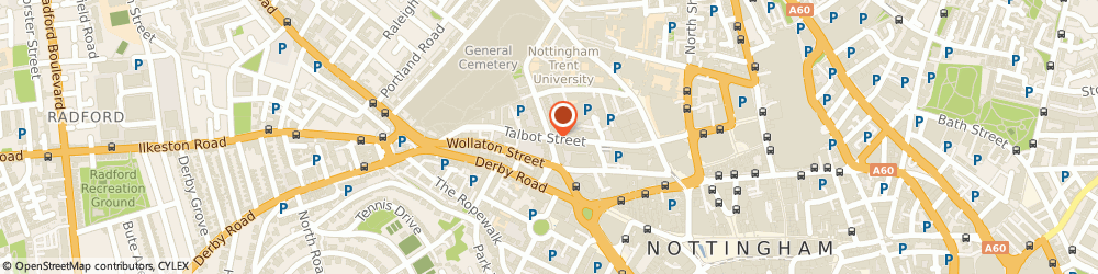 Route/map/directions to Skip Hire Nottingham, NG1 5GG Nottingham, 8b Talbot St
