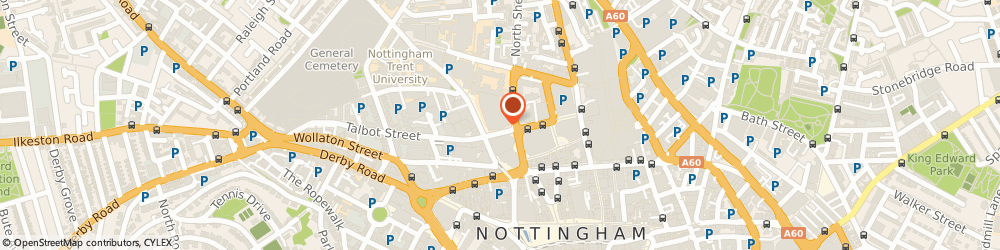 Route/map/directions to Nottingham Conference Centre Limited, NG1 4BU Nottingham, Nottingham Conference Centre, Burton Street