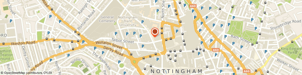 Route/map/directions to Stealth, NG1 5JT Nottingham, Masonic Pl, Goldsmith St