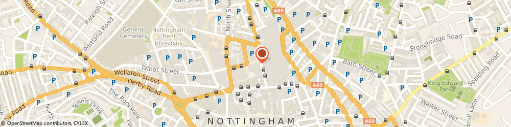 Route/map/directions to The Gym Nottingham, NG1 4AF Nottingham, 14 Trinity Square