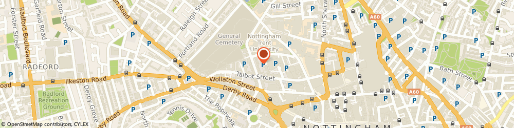 Route/map/directions to Henry Mein Partnership, NG1 5HQ Nottingham, 12 Clarendon St