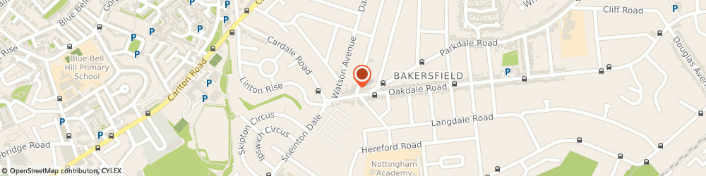 Route/map/directions to The Barber Shop, NG3 7EF Nottingham, 11 OAKDALE ROAD