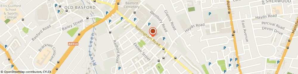 Route/map/directions to Hutchings Hairdressing, NG7 5QJ Nottingham, 301 Radford Boulevard