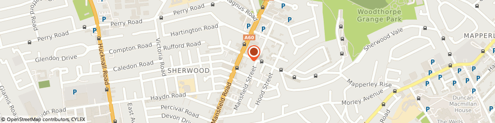 Route/map/directions to Sherwood Chiropractic Clinic, NG5 4AJ Nottingham, 17 Winchester St