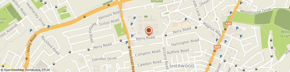 Route/map/directions to Her Majesty's Prison Nottingham, NG5 3AG Nottingham, 112 PERRY RD