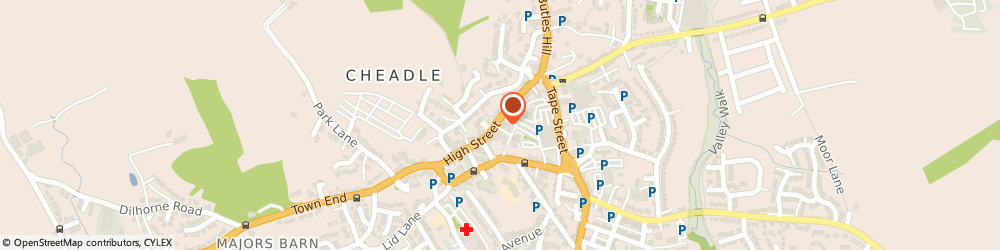 Route/map/directions to E & e Furniture Stores (Cheadle), ST10 1AR Stoke-On-Trent, 43-45 High St, Central Buildings