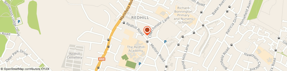 Route/map/directions to A J Richardson, NG5 8HB Nottingham, 80b Redhill Road Arnold