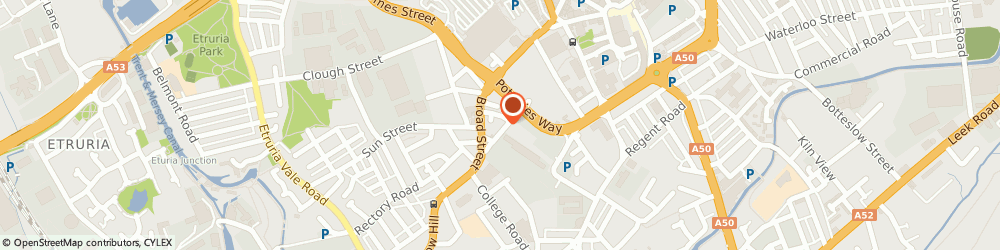 Route/map/directions to Carcraft Test Centre, ST1 4QA Stoke-On-Trent, 88-90 Cannon Place