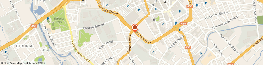 Route/map/directions to Johnstone's Decorating Centre, ST1 4EJ Stoke-On-Trent, Broad Street