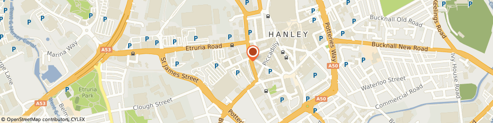 Route/map/directions to Hanley Furniture Centre, ST1 4FB Stoke-On-Trent, 3 Clough Street