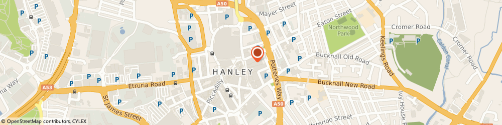 Route/map/directions to Card Factory, ST1 1NS Stoke-On-Trent, 14 UPPER MARKET SQUARE