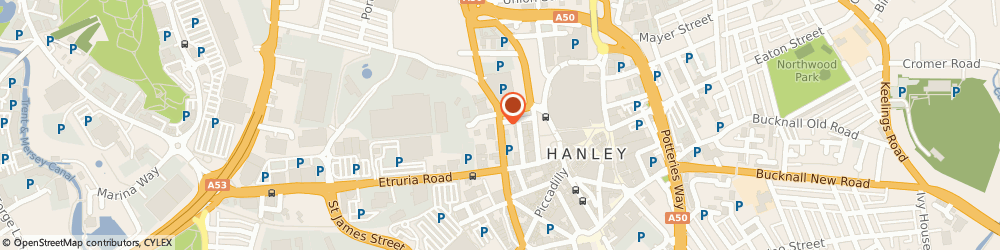 Route/map/directions to Star Hotel, ST1 5HH Stoke-On-Trent, 92 MARSH ST NORTH