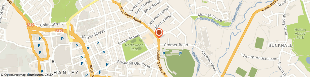 Route/map/directions to Northwood Hotel, ST1 6QA Stoke-On-Trent, 146 Keelings Rd, Northwood, Hanley
