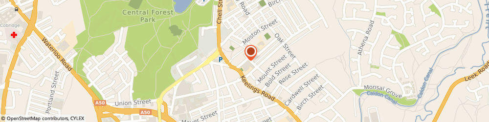 Route/map/directions to CREATIVE NETWORK SOLUTIONS LIMITED, ST1 2LW Stoke-On-Trent, 1 Myatt Street