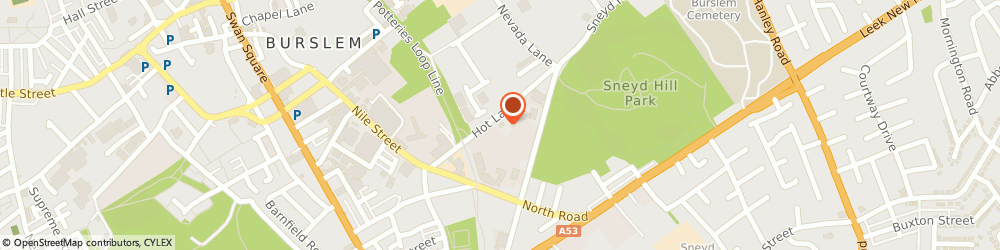 Route/map/directions to Hot Lane Tyres, ST6 2BN Stoke On Trent, Hot Lane