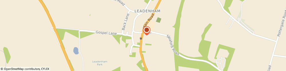 Route/map/directions to Post Office Limited, LN5 0PY Lincoln, 10 Main Road