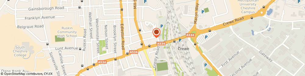Route/map/directions to The Box, CW2 6AG Crewe, Pedley Street