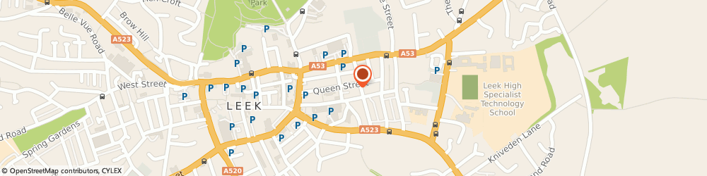 Route/map/directions to Armstrongs Chartered Accountants, ST13 6LP Leek, Alexandra House;Queen Street