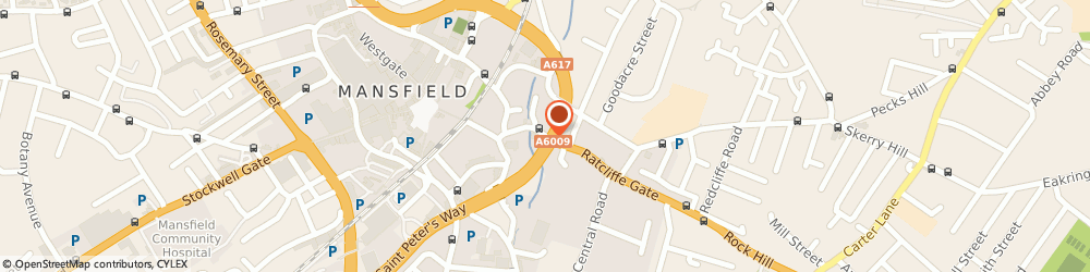 Route/map/directions to Dulux Decorator Centre - Mansfield, NG18 1AL Mansfield, 31 Bridge Street