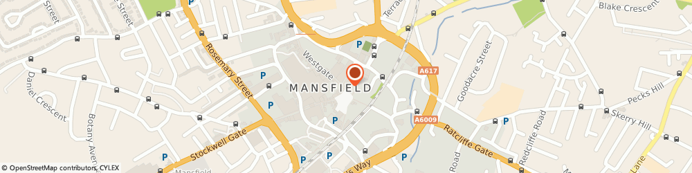 Route/map/directions to Ten Green Bottles, NG18 1JA Mansfield, 25 Market Pl