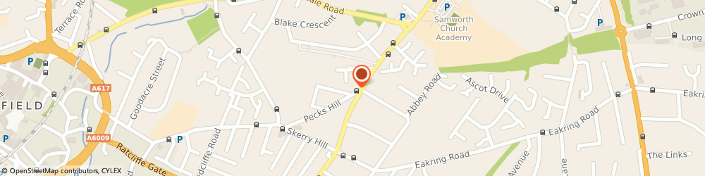 Route/map/directions to Rico Sandwich Bar and Coffee Shop, NG18 2NS Mansfield, Shop 3, 31 Pecks Hill