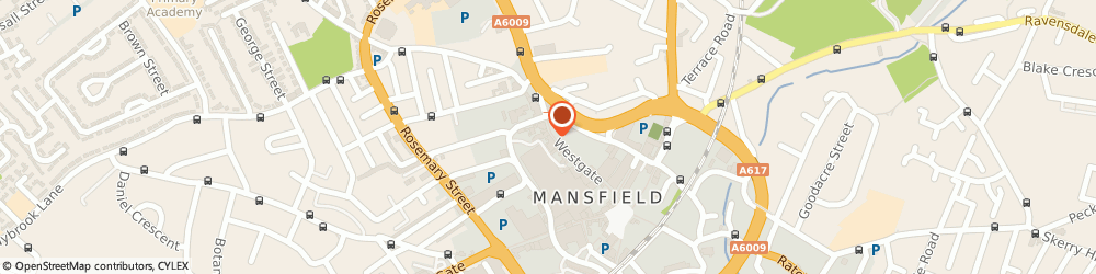 Route/map/directions to Mansfield Shoe Repairs and Locksmiths, NG18 1RT Mansfield, 57 Westgate Mansfield