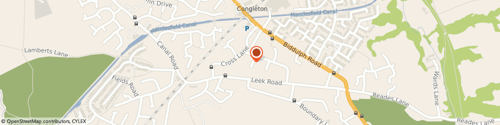 Route/map/directions to BELLBOY CARS LTD, CW12 3JZ Congleton, 5 Cornwall Close