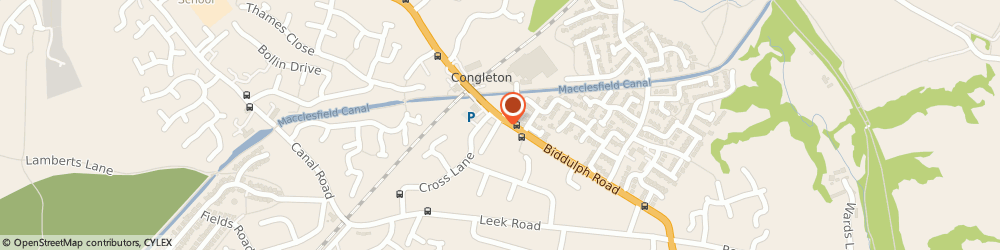 Route/map/directions to Curtains By Design, CW12 3LG Congleton, 16 Biddulph Rd